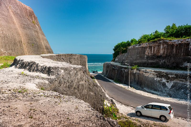 Дорога на пляж Пандава, Бали