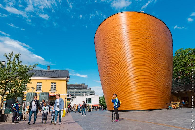 Необычная часовня в Хельсинки
