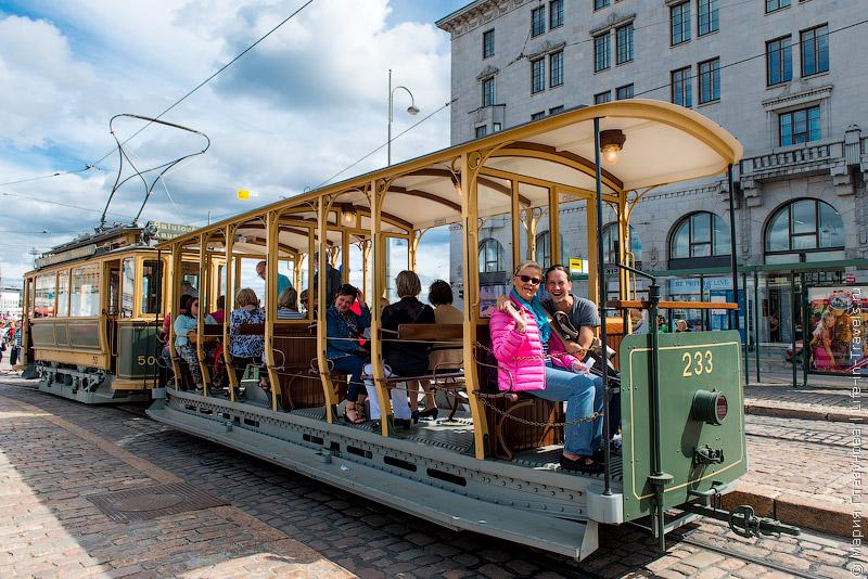 Туристический трамвай в Хельсинки