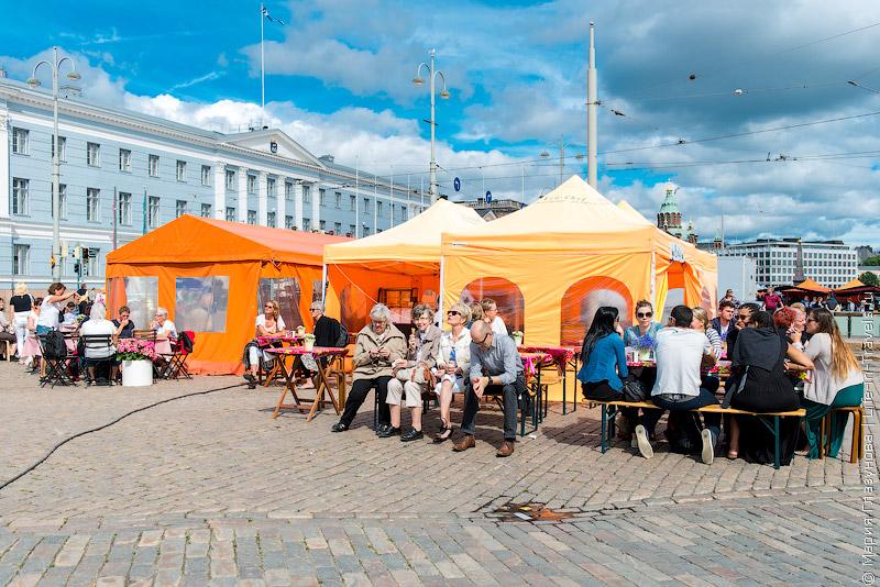 Летний базар в Хельсинки
