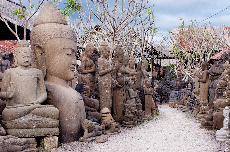 Улица-деревня скульпторов на Бали