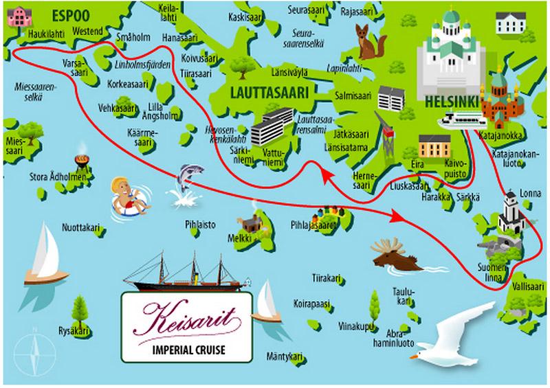 Маршрут по архипелагу Хельсинки
