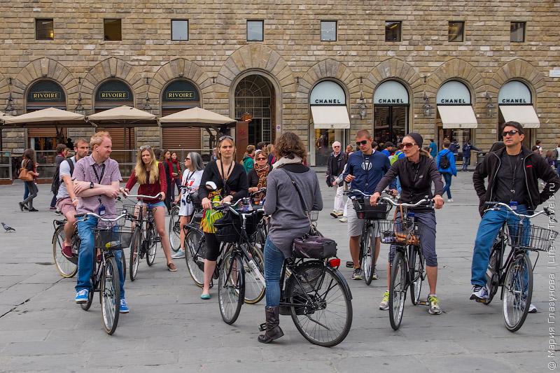 На велосипеде по Флоренции