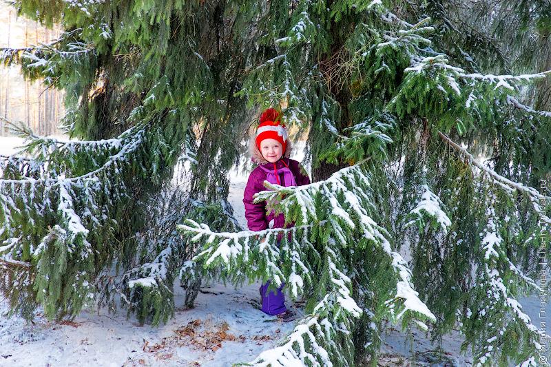 Настя в зимней Финляндии