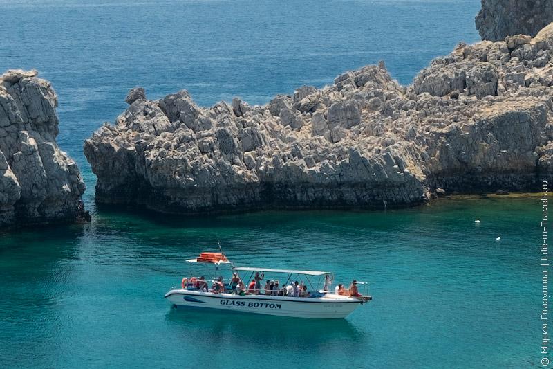 Бухта Святого Павла, пляж в Линдосе, Родос