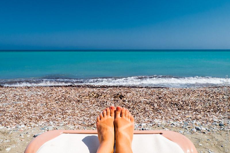 Пляж Иксия, Родос, Греция