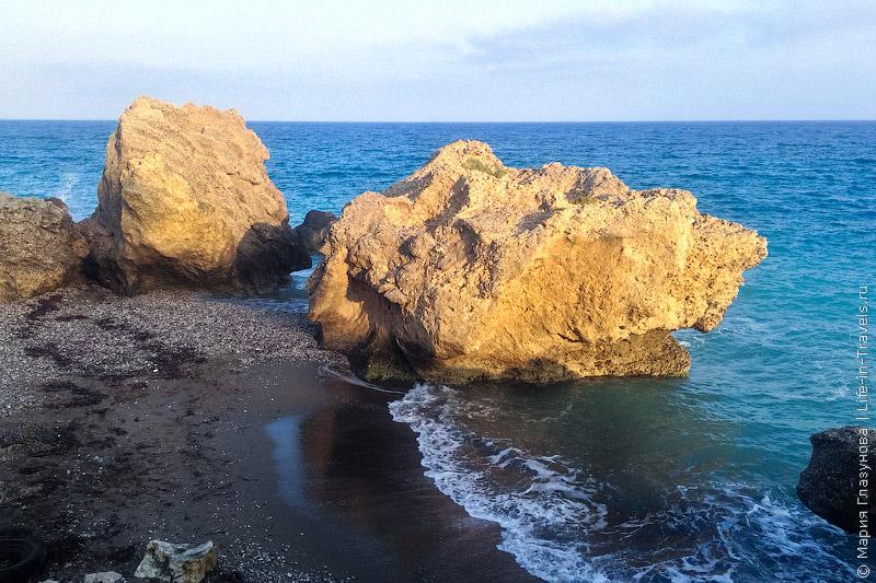 Пляж Иксия, Родос