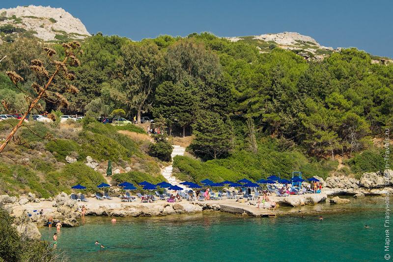 Пляж Ладико, Родос