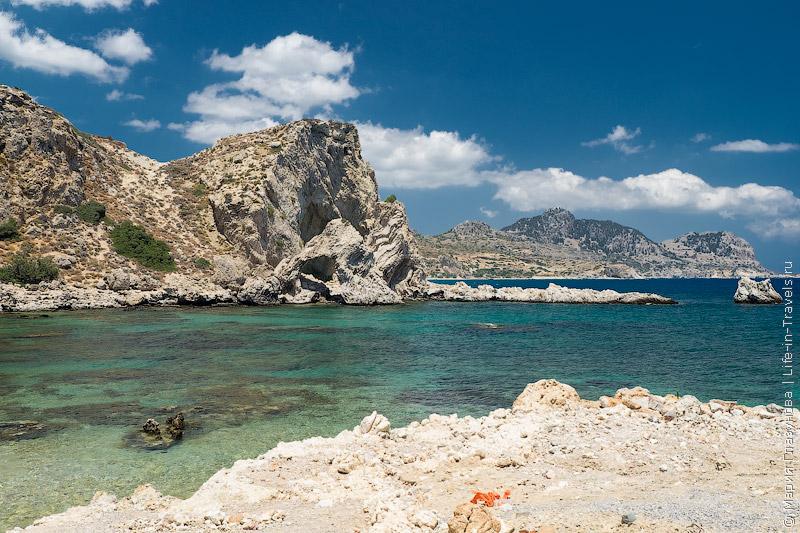 Секретный пляж у деревушки Архангелос, Родос