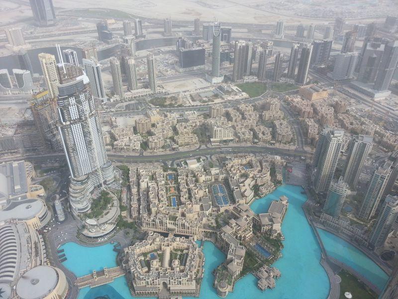 Вид со смотровой площадки Бурдж-Халифы